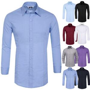 PJ Men Button Down Long Sleeve Lapel Blouse Tops Plus Size Formal Party T-shirtS