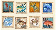 "QUILT PANEL Quilting Treasures ~ OCEAN OASIS ~ Dan Morris (25828 X) 24"" X 45"""