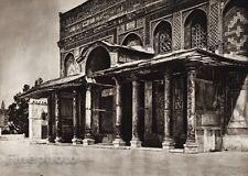 1925 Print JERUSALEM Temple Dome Column Architecture ISRAEL Palestine Photo Art