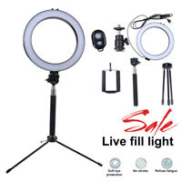 """8"""" LED Ring Light w/Tripod Stand Kit USB Dimmable for Phone Selfie Video Live US"""