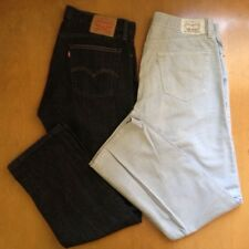 Mens LEVIS Jeans 514 Slim LOT TWO 2 PAIR (36 x 32) Grey Gray Blue FREE SHIPPING!