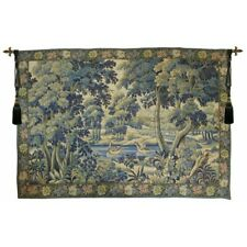 """Verdure Colverts French Tapestry Wall Hanging H 58"""" x W 86"""""""