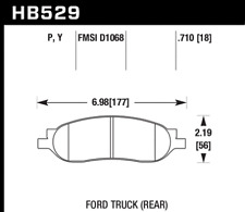Hawk Disc Brake Pad Rear for 05-07 Ford F-250 & F-350 Super Duty