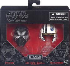 Star Wars Black Series Titanium Series Helmets Kylo Ren & Poe Dameron Sealed