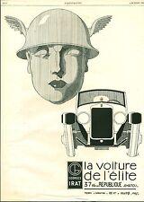 Publicité ancienne automobile Georges IRAT 1926 issue de magazine