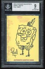 Spongebob Squarepants 2009 Topps Animator Retail Sketch by Paul Tibbitt Bgs 9.0