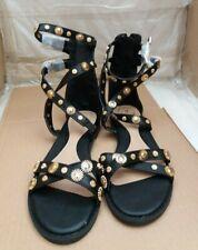 59659f9124f51b Missguided Gold Stud Gladiator Flat Sandals - Black - UK 5 EU 38