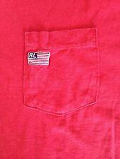 VINTAGE-POLO JEANS COMPANY RALPH LAUREN USA FLAG POCKET T-SHIRT-LARGE