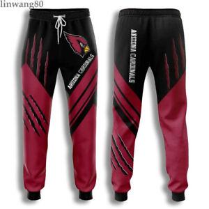 Arizona Cardinals Men Casual Sweatpants Sports Jogging Trousers Workout Pants US