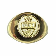 The King's Ring  Solid 18K Men's Signet Ring - High Quality Item -Can be Resized