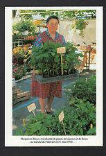 PITHIVIERS (45) MARCHANDE de PLANTS de LEGUMES & de FLEURS au Marché en 1996