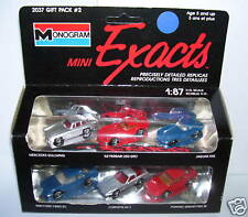 6 EXACTS MONOGRAM HO 1/87 MERCEDES GULLWING FERRARI PONTIAC JAGUAR FORD CORVETTE