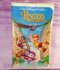 Rescuers Down Under Walt Disney Classic Childrens VHS Videotape Clamshell Case
