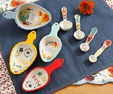 The Pioneer Woman Willow 8-Piece Measuring Spoon and Scoop Set
