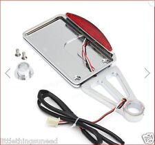 motorcycle,billet,alloy,side,mount,license,plate,LED,stop,tailight,chrome,chop,
