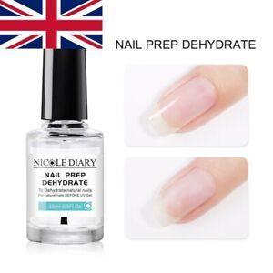 NICOLE DIARY 15ml Nail Prep Dehydrate for UV Gel Polish Long Lasting Gel