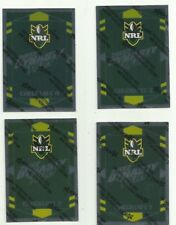 2012 NRL SELECT DYNASTY PARALLEL checklist SET 4 CARDS