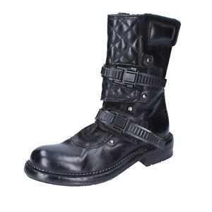 Women's shoes MOMA 7 (EU 37) ankle boots black leather BJ682-37