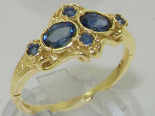 Engagement Cluster Sapphire Oval Fine Rings