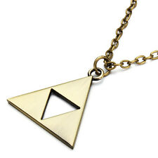 cosplay triforce necklace zelda link collana nintendo videogame col. ORO GOLD