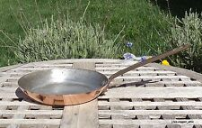"""Williams Sonoma Copper 7-1/2"""" Skillet, Tin Lining, Bronze Handle, Made in France"""