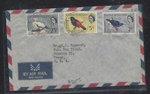 BRITISH HONDURAS (PP2107B)  QEII BIRD 2C+5C+25C STANN CREEK TO USA