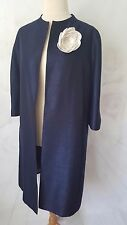 Jacques Vert Occasional Coat Jacket ~ Size 18 Navy Wedding Special Occasion
