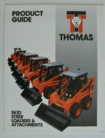 THOMAS Loader Product Guide 1994 dealer brochure catalog - English - Canada