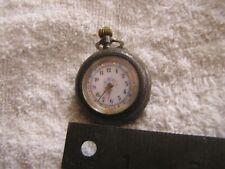 Antique Silver Pocket Watch Switzerland with Flower Dial