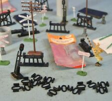 HO Trackside Scenery Lot - Poles, Lights, Signals, and More!