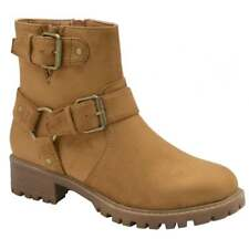 DOLCIS DAVIS BIKER STYLE ANKLE BOOTS TAN UK 6 EURO 39