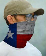 SUN GAITER Mask Bandana UPF 50+ UV Protect Fishing Texas State Flag Face Neck