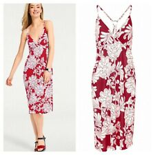 Designer @ Heine Size 8 Red Ecru Print Strappy Summer Sun DRESS Holiday £50