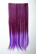 Extension capelli Clip-In 5 clip liscio bicolore Ombreggiato Lilla 60cm lang