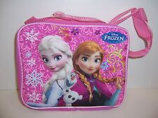 Girls Disney FROZEN Insulated LUNCH BAG Bag Case Tote QUEEN ELSA ANNA OLAF NEW