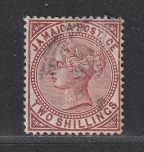 Jamaica SG 55 Scott 54 1908 Victoria 2/- Red Brown Mult CA Space Filler SCV $170
