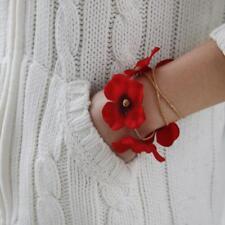 Bracelet Fleur de Poignet Décor Mariée Fille Mariage Rouge