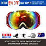 Pro Adults Ski Snow RED Googles Snowboarding Skating Lens 100% UV400 Protection