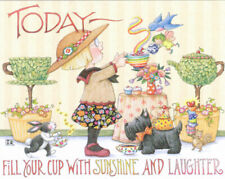 Ann Estelle-Fill Cup With Sunshine-Handcrafted Frig Magnet-w/Mary Engelbreit art