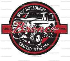 1966-1977 Early Ford Bronco decal sticker