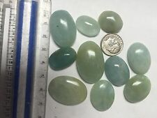 10pcs 50g Natural Aquamarine Beryl Cabochons Cab Gemstone
