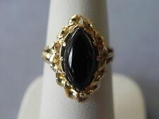 Black Onyx 14k Yellow Gold Ring