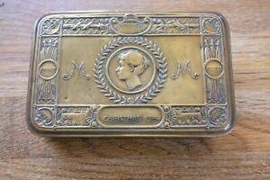 Original WW1 World War 1 Christmas 1914 British Army Tin