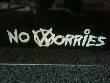 "No Worries Decal Sticker VW Mk1,2,3,4,5,6 Jetta Golf Bus Beetle 8"" x 2""- Silver"