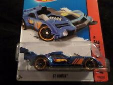 HW HOT WHEELS 2015 HW RACE #130/250 GT HUNTER HOTWHEELS BLUE RACE TRACK READY
