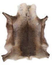 Large Premium Reindeer Hide Rug Dark Shade Natural Marking Genuine Skin