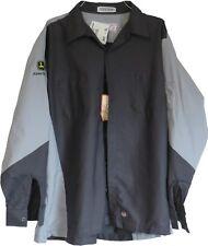 Red Kap John Deere Tech XL Mens New With Tags Long Sleeve Work Uniform Mechanic