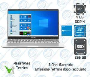 "COMPUTER PORTATILE NOTEBOOK ASUS X515M 15,6"" RAM 4GB SSD 256GB WEBCAM WINDOWS 10"