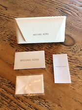 Brand New MICHAEL KORS White Sunglasses Eyeglasses Case w/ Cloth!