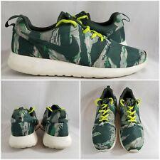 Nike Rosherun GPX 555445-331 Black Sail Green Tiger Camo Roshe Run Shoe SZ 10.5